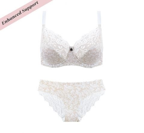 Enhanced Support Natural Floral Bikini Set