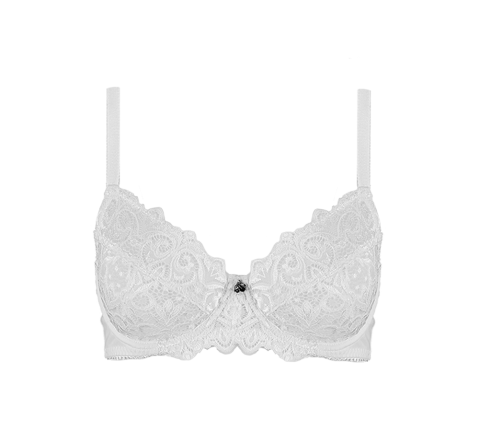 Retro Lace Bra White