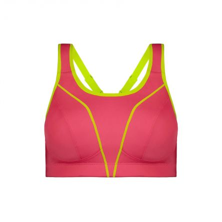 Compression Sports Bra - Enhanced Support - Flamingo Product Image Front