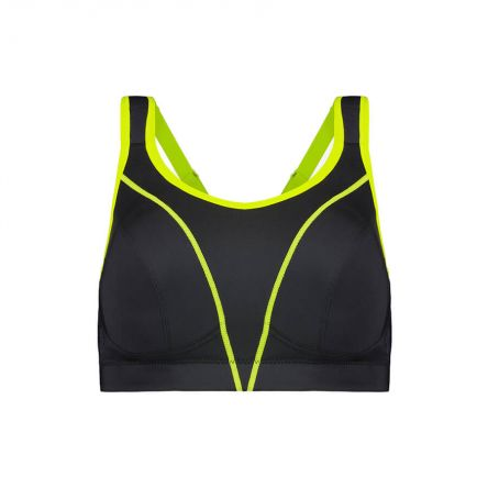Compression Sports Bra - Enhanced Support - Raven Product Image Front